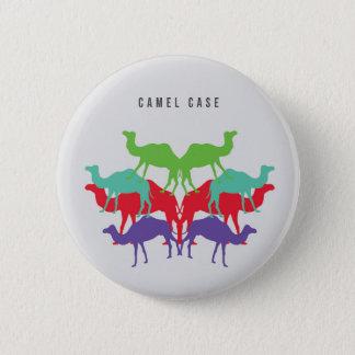 Badge Rond 5 Cm Bouton de cas de chameau