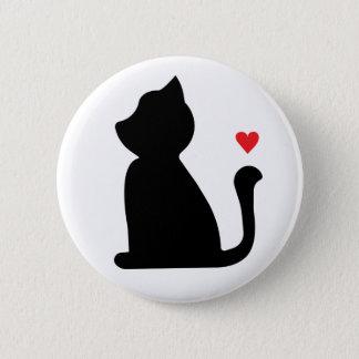 Badge Rond 5 Cm Bouton de chat