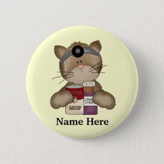 Badge Rond 5 Cm Bouton de chat d'infirmière
