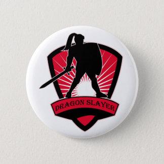 Badge Rond 5 Cm Bouton de chevalier de tueur de dragon