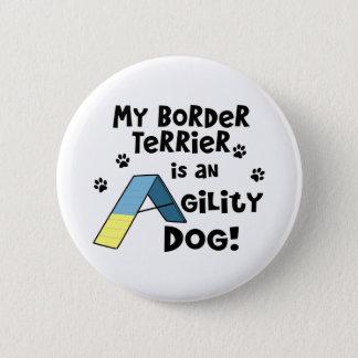 Badge Rond 5 Cm Bouton de chien d'agilité de Terrier de frontière