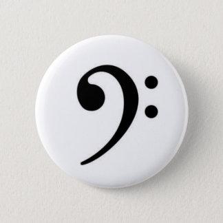 Badge Rond 5 Cm Bouton de clef basse