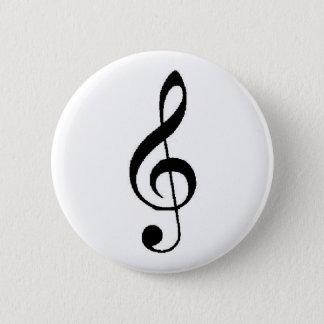 Badge Rond 5 Cm Bouton de clef triple
