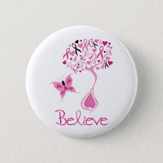 Badge Rond 5 Cm Bouton de conscience de cancer du sein