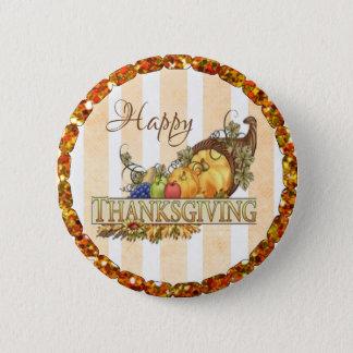 Badge Rond 5 Cm Bouton de corne d'abondance de bon thanksgiving