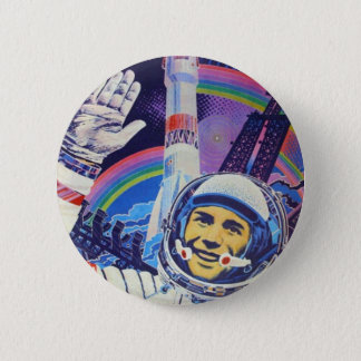 Badge Rond 5 Cm Bouton de cosmonaute de Yuri Gagarin