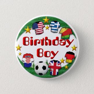 Badge Rond 5 Cm Bouton de ~ de garçon d'anniversaire (le football)