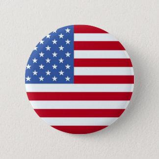 Badge Rond 5 Cm Bouton de drapeau américain