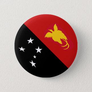 Badge Rond 5 Cm Bouton de drapeau de la Papouasie-Nouvelle-Guinée
