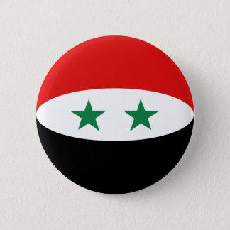 Badge Rond 5 Cm Bouton de drapeau de la Syrie Fisheye