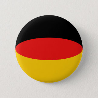 Badge Rond 5 Cm Bouton de drapeau de l'Allemagne Fisheye