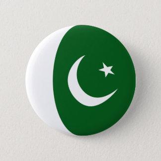 Badge Rond 5 Cm Bouton de drapeau du Pakistan Fisheye