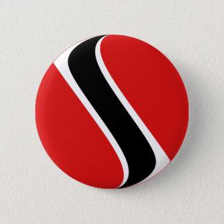 Badge Rond 5 Cm Bouton de drapeau du Trinidad-et-Tobago Fisheye