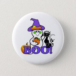 Badge Rond 5 Cm Bouton de fantôme de Halloween