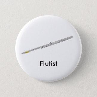 Badge Rond 5 Cm Bouton de Flutist
