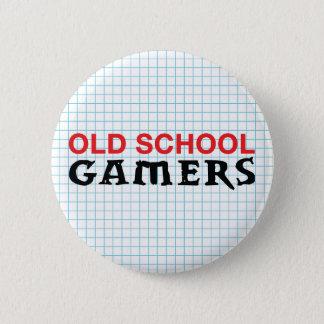 Badge Rond 5 Cm Bouton de Gamers de vieille école