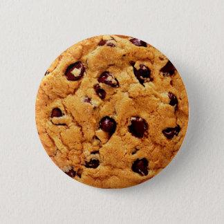 Badge Rond 5 Cm Bouton de gâteau aux pépites de chocolat