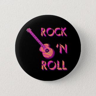 Badge Rond 5 Cm Bouton de guitare acoustique de rock