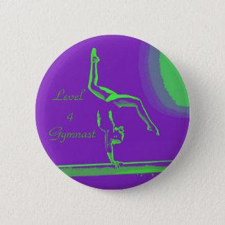 Badge Rond 5 Cm Bouton de gymnaste du niveau 4