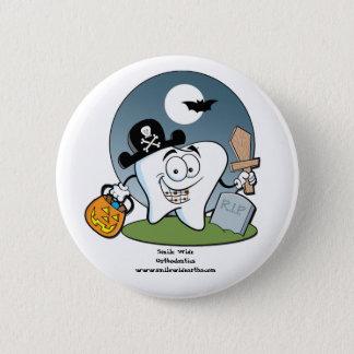 Badge Rond 5 Cm Bouton de Halloween avec des croisillons