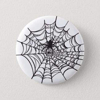 Badge Rond 5 Cm Bouton de Halloween de toile d'araignée