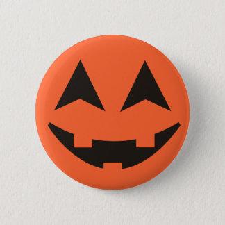 Badge Rond 5 Cm Bouton de Halloween de visage de citrouille de