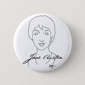 Badge Rond 5 Cm Bouton de Jane Austen