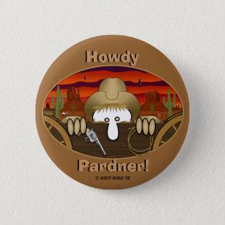 Badge Rond 5 Cm Bouton de Kilroy de cowboy
