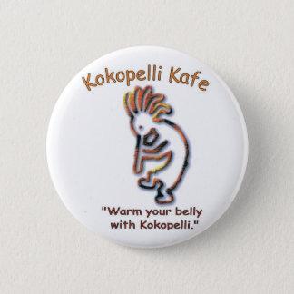 Badge Rond 5 Cm Bouton de Kokopelli Kafe