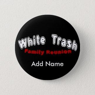 Badge Rond 5 Cm Bouton de la Réunion de déchets blancs