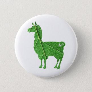 Badge Rond 5 Cm Bouton de lama de feuille