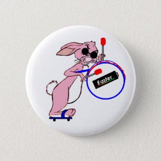 Badge Rond 5 Cm Bouton de lapin de Pâques