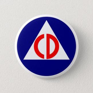 Badge Rond 5 Cm Bouton de logo de défense civile