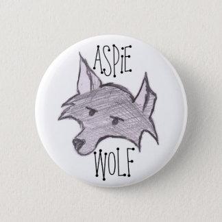 Badge Rond 5 Cm Bouton de loup d'Aspie