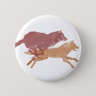 Badge Rond 5 Cm Bouton de loups