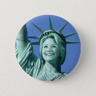 Badge Rond 5 Cm Bouton de Madame Liberty Hillary Clinton