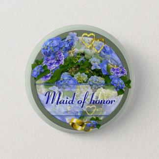 Badge Rond 5 Cm Bouton de mariage de ~ de COEURS et