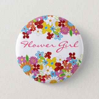 Badge Rond 5 Cm Bouton de mariage de jardin de fleurs de ressort