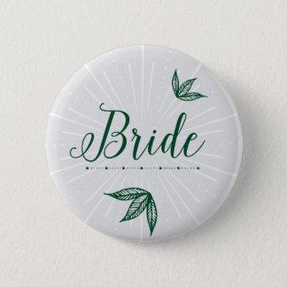 Badge Rond 5 Cm Bouton de mariage de jardin secret - jeune mariée