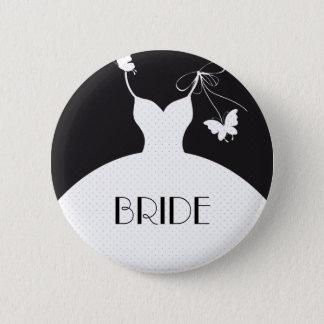Badge Rond 5 Cm Bouton de mariage de jeune mariée