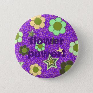 Badge Rond 5 Cm Bouton de message textuel de flower power
