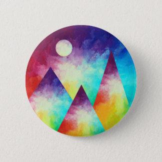 Badge Rond 5 Cm Bouton de montagne d'arc-en-ciel, arc-en-ciel