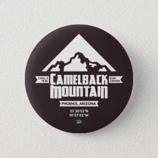Badge Rond 5 Cm Bouton de montagne de Camelback (foncée) -