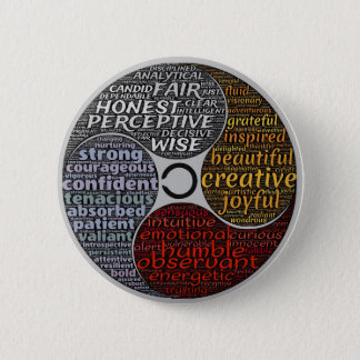 Badge Rond 5 Cm Bouton de motivation de chant religieux de zen de