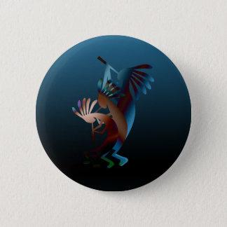 Badge Rond 5 Cm Bouton de musique de cannelure de Kokopelli