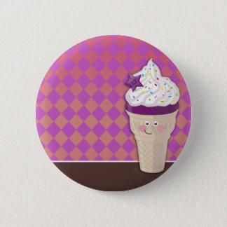 Badge Rond 5 Cm bouton de myrtille de crème glacée