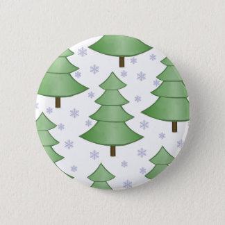 Badge Rond 5 Cm Bouton de neige d'arbre de Noël