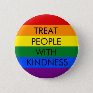 Badge Rond 5 Cm Bouton de norme de gentillesse d'arc-en-ciel
