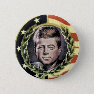 Badge Rond 5 Cm Bouton de nostalgie de JFK