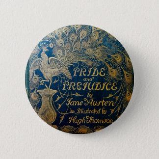 Badge Rond 5 Cm Bouton de paon de fierté et de préjudice